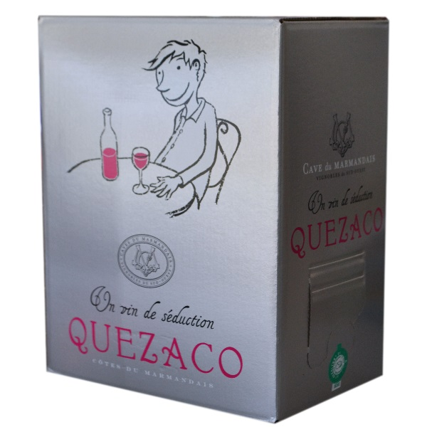 côtes du marmandais, bag in box, quezaco rosé