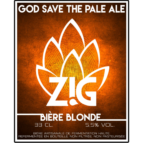 Zig bière blonde artisanale god save the pale ale